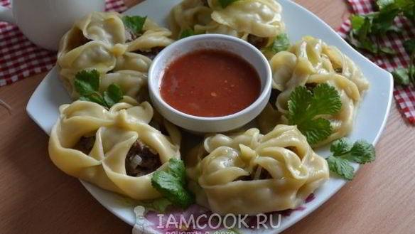 Рецепт Мантов в пароварке